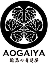 新・青貝屋ロゴ 縦(透過)