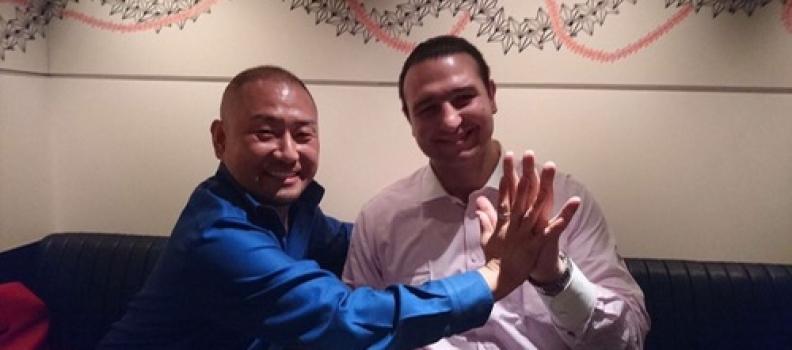 鳴門親方(元 琴欧洲関)と焼肉と飲みをご一緒して以来、TSPオフィスに大相撲の番付表を贈ってくれてます。
