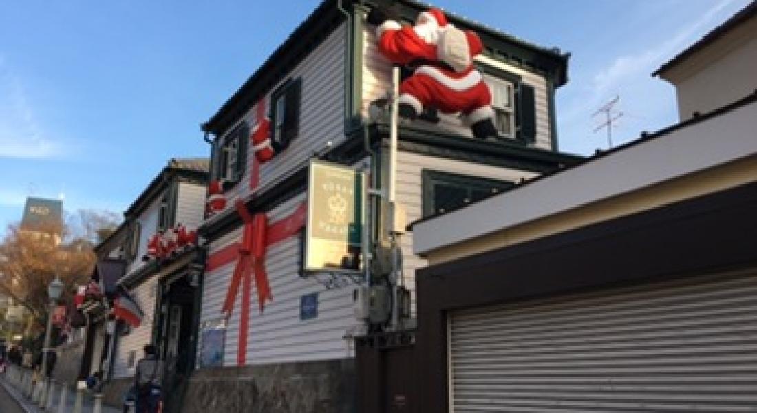 クリスマス装飾の神戸 北野 異人館街